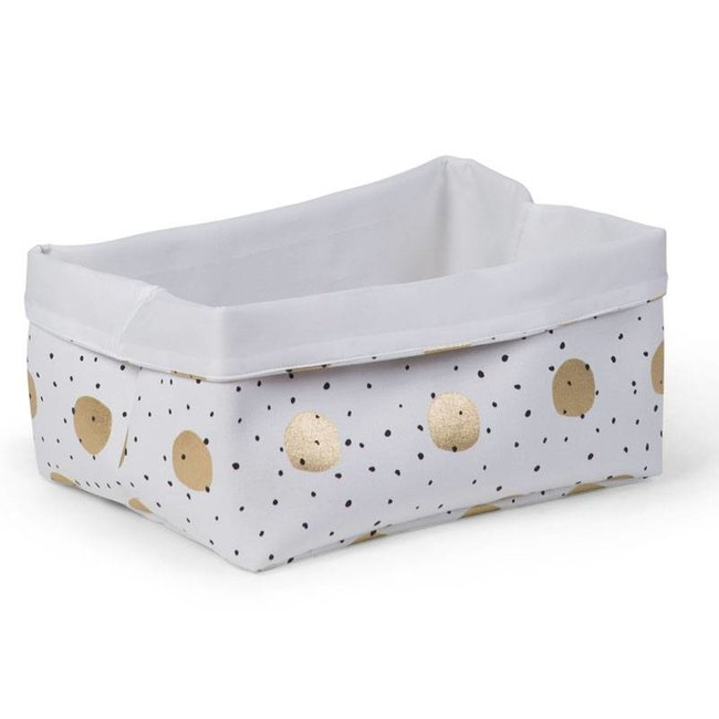 Childhome Canvas Mand Gold Dots | Childhome