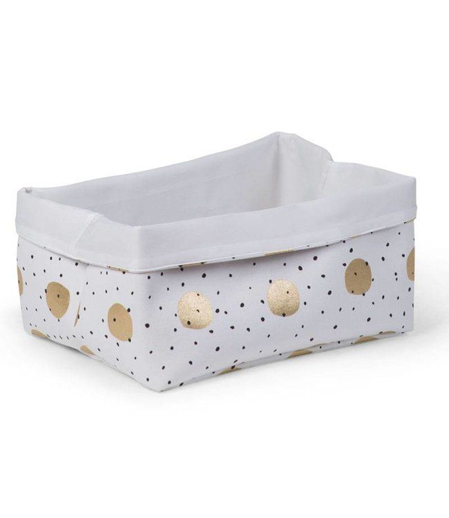 Childhome Canvas Mand Gold Dots   Childhome