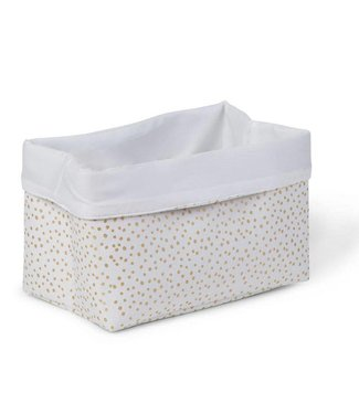 Childhome Canvas Mand Small Gold Dots | Childhome