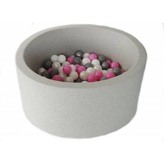 MiiiMi Ballenbad Lichtgrijs XL + 200 ballen | MiiiMi