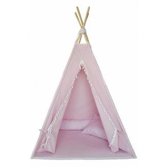 MiiiMi Tipi Tent Pink met vloermatras   Miiimi