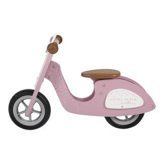 Little Dutch Houten Loopfiets Scooter Pink | Little Dutch