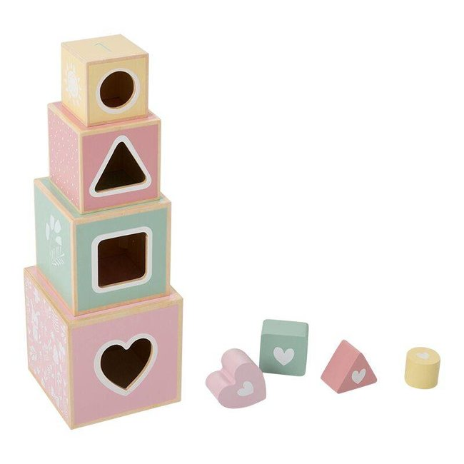 "Little Dutch Houten Blokkentoren  ""Adventure Pink"" 