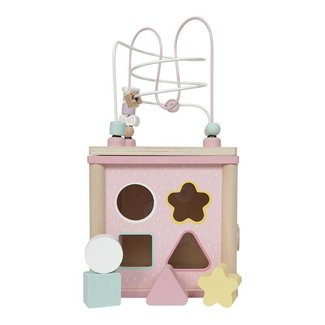 Little Dutch Houten Activiteitenkubus Adventure Pink  | Little Dutch