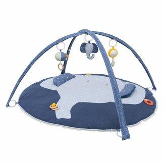 "Trixie Baby Speelmat met bogen Blauw ""Mrs. Elephant"" | Trixie Baby"