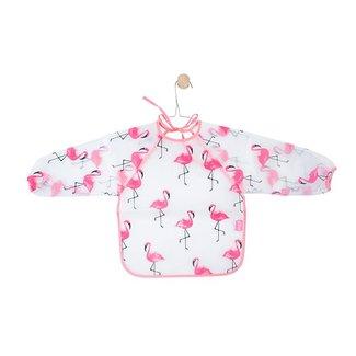 Jollein Slabbetje Flamingo met mouwen | Jollein