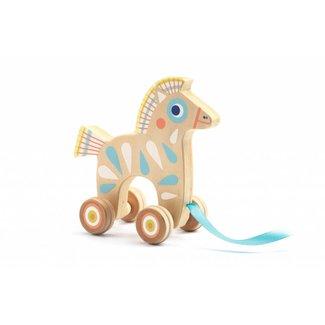 Djeco Trekdier hout paard  Djeco