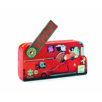 Djeco Puzzel Brandweerwagen 16st.   Djeco