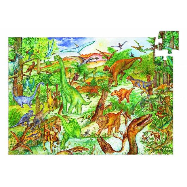 Djeco Leerrijke Puzzel 'Dinosaurus'  100st.| Djeco