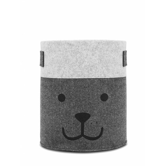 "Jollein Opbergmand XL ""Little Bear Grey"" 