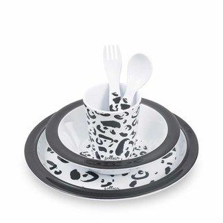 Jollein Dinnerset Bamboe Leopard | Jollein