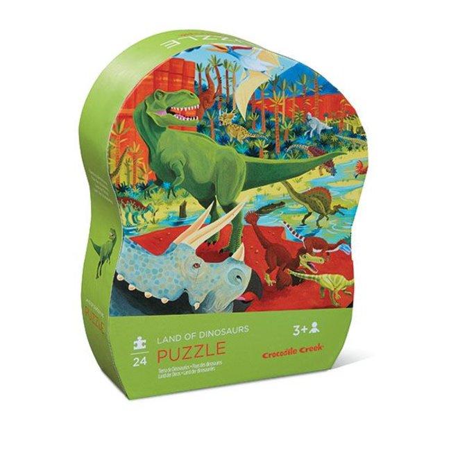 Crocodile Creek Puzzel Land der dinosauriërs 24 pcs | Crocodile Creek