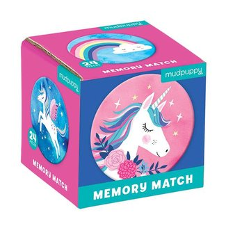 Mudpuppy Mini Memory Spel  - Unicorn Magic | Mudpuppy