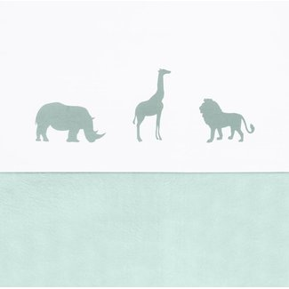 Jollein Laken 120 x 150 cm Safari Forest Green | Jollein
