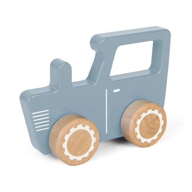 Little Dutch Houten Tractor Adventure Blauw | Little Dutch