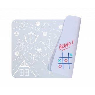Super Petit Mini Placemat met kleurtjes - Snow  | Super Petit