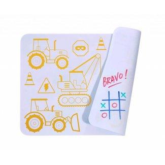 Super Petit Mini Placemat met kleurtjes - Construction  | Super Petit