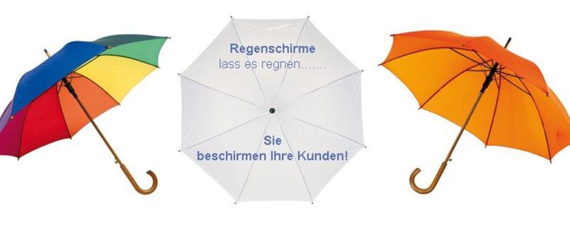 Regenschirme sind immer begehrt