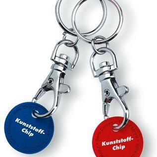 Einkaufswagenchip mit Schlüsselring