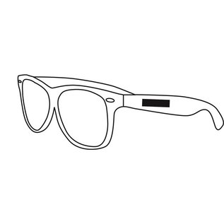 Sonnenbrillen Kunststoff Rahmen gefrostet