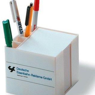 Zettelbox mit Stifteköcher