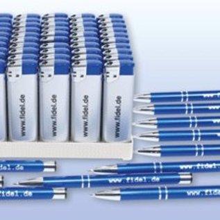 Spar-Set Kugelschreiber und Feuerzeuge