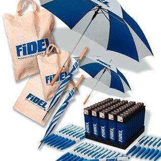 Spar-Set Propylentaschen, Schirme, Kugelschreiber, Feuerzeuge