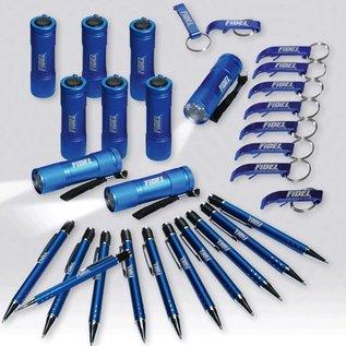 Spar-Set Kugelschreiber + Schlüsselanhänger + Taschenlampen