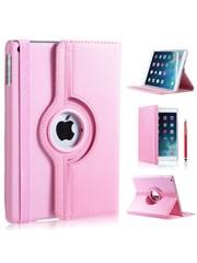 iPadspullekes.nl iPad Air hoes 360 graden licht roze leer
