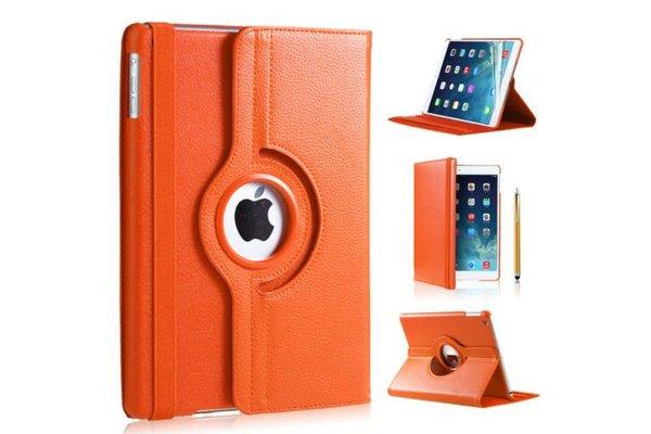 iPadspullekes.nl iPad Air hoes 360 graden oranje leer