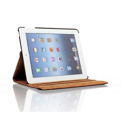 iPadspullekes.nl iPad 2017 hoes 360 graden bruin leer