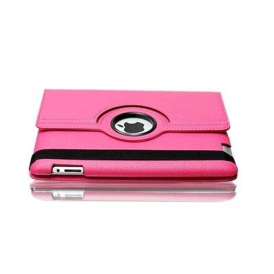 iPadspullekes.nl iPad 2017 hoes 360 graden roze leer