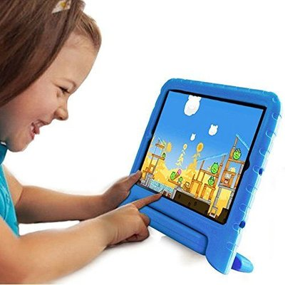 iPadspullekes.nl iPad 2017 Kids Cover blauw