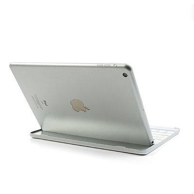 iPadspullekes.nl iPad Air 2 toetsenbord bluetooth aluminium case wit