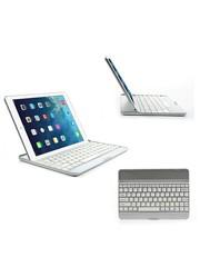 iPadspullekes.nl iPad 2017 toetsenbord bluetooth aluminium case wit
