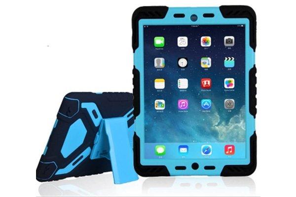 iPadspullekes.nl iPad hoes 2017 Spider Case zwart blauw