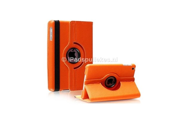 iPadspullekes.nl iPad Pro 10,5 hoes 360 graden oranje leer