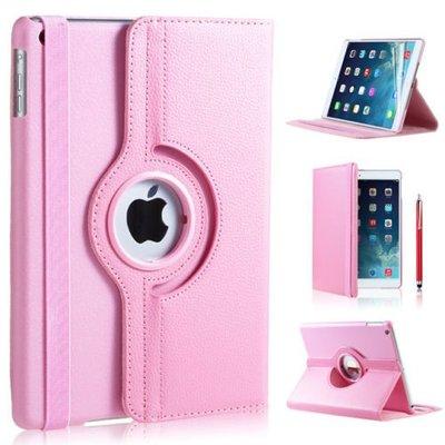 iPadspullekes.nl iPad Pro 10,5 hoes 360 graden licht roze leer