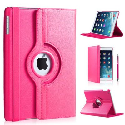 iPadspullekes.nl iPad Pro 10,5 hoes 360 graden roze leer