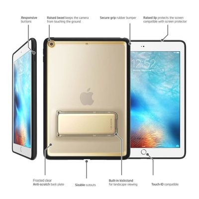 i-Blason iPad hoes 2017 Halo Slim Case goud