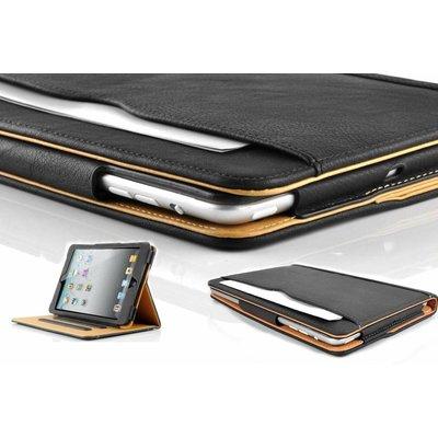 iPadspullekes.nl iPad Pro 12,9 (2015) luxe hoes leer bruin zwart