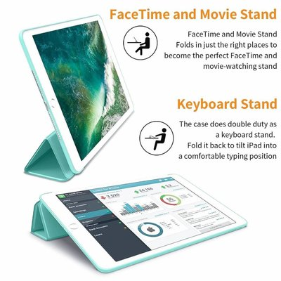 iPadspullekes.nl iPad 2017 Smart Cover Case Licht Blauw