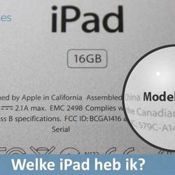 Welke iPad heb ik ?