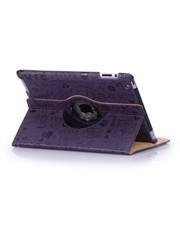 iPadspullekes.nl iPad mini 360 hoes Trendy leer paars