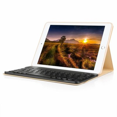 iPadspullekes.nl iPad Pro 10.5 hoes met afneembaar toetsenbord goud