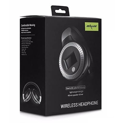Zealot Draadloze koptelefoon met microfoon zwart B19