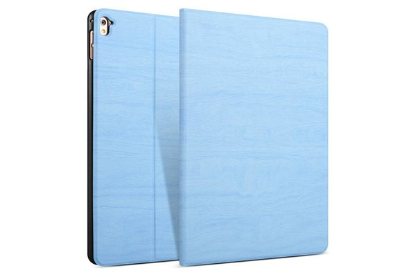 iPadspullekes.nl iPad hoes 2017 Design licht blauw hout print