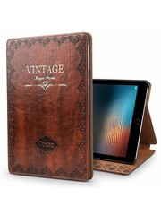 iPadspullekes.nl iPad hoes 2017 leer vintage bruin