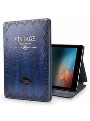 iPadspullekes.nl iPad hoes 2017 leer vintage blauw