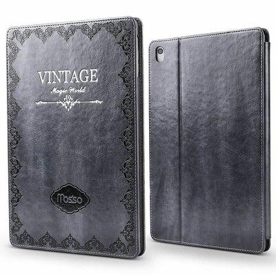 iPadspullekes.nl iPad hoes 2017 leer vintage grijs